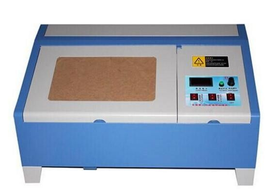 Mini Laser Engraving Machine With Roller Guide Rail , Laser Cutter Engraver Water Cooling